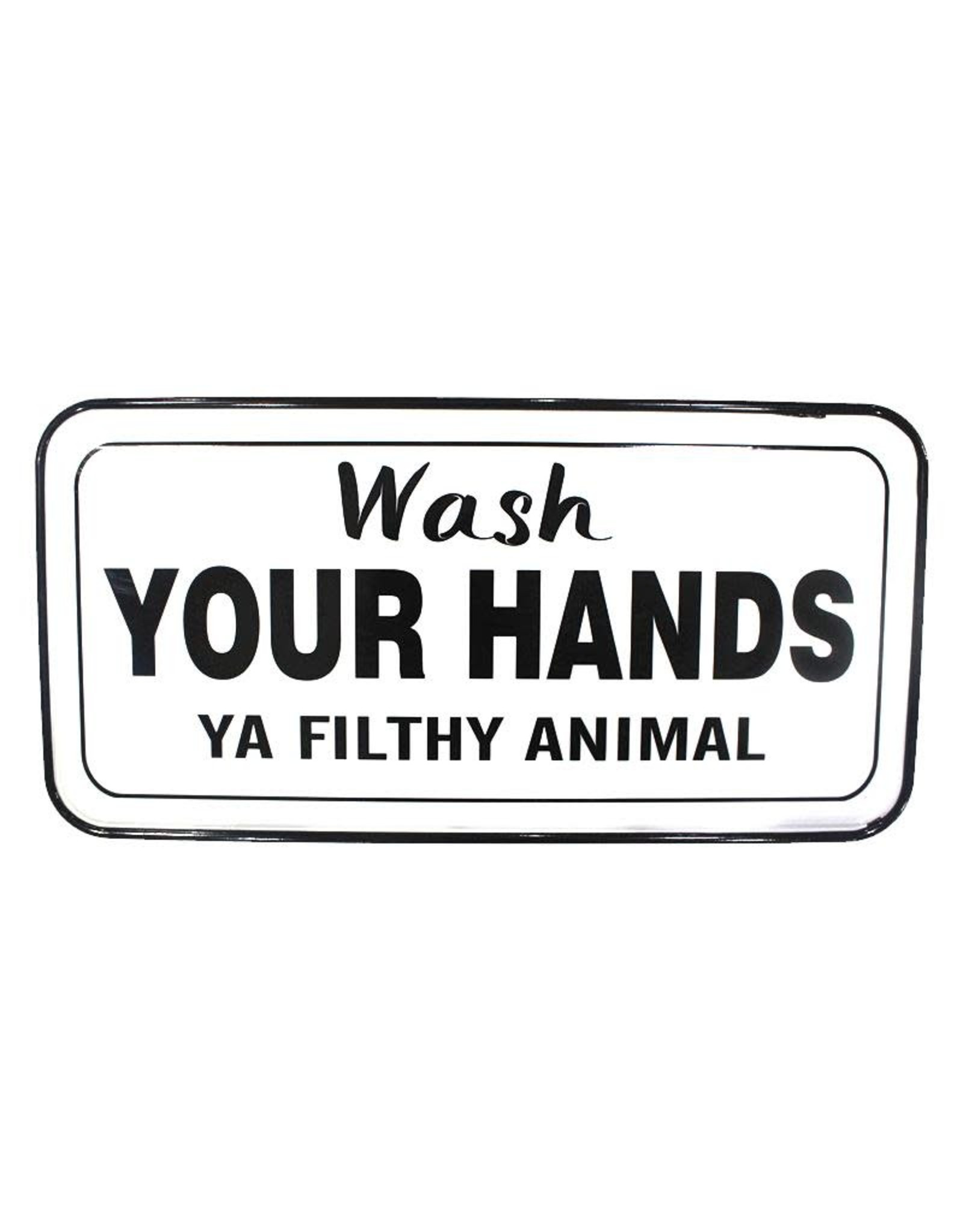TCE Wash your Hands Sign Enamel