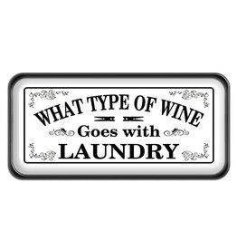 Wine & Laundry Enamel Sign
