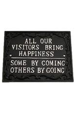 Cast Iron Visitors Sign