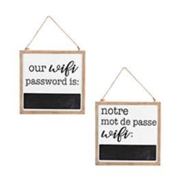 Hanging Wifi Frame - English/French
