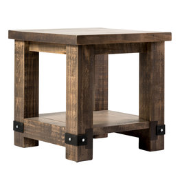 TCE Barn Series Steel Plate End Table