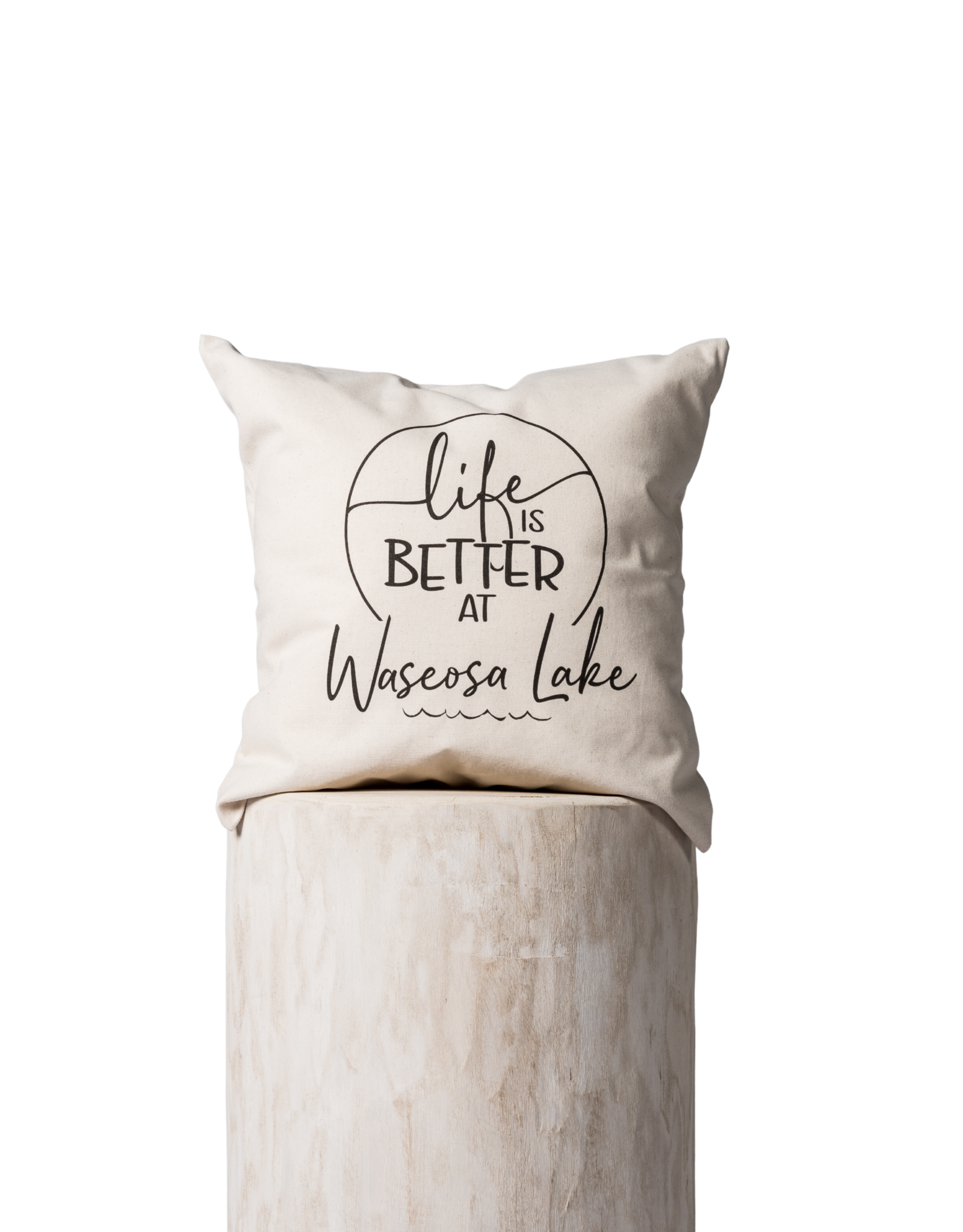 TCE Life is Better at Waseosa Lake Pillow