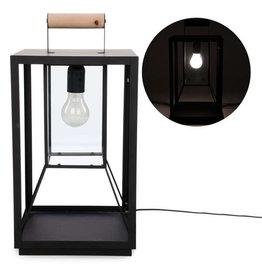 TCE Black metal table lamp