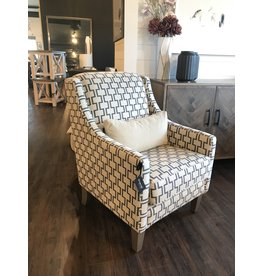 "TCE 7606 Glenda Chair 28""x35"" Lock Graphite(68)"