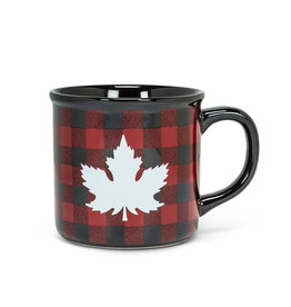 Maple Leaf Checker Mug