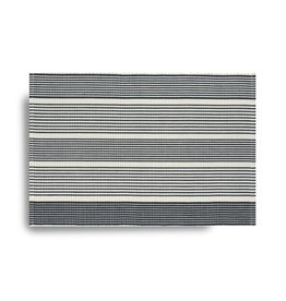 Ribbed Striped Placemat - Black