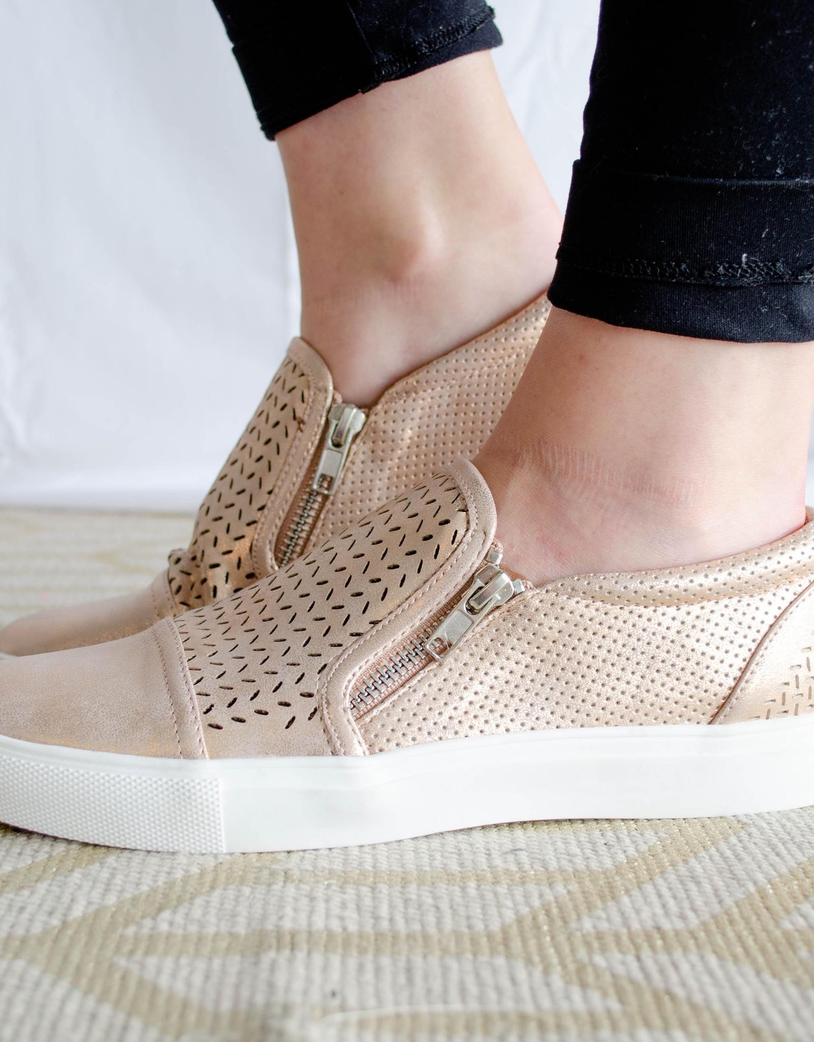 report Rose Gold Metallic Sneakers