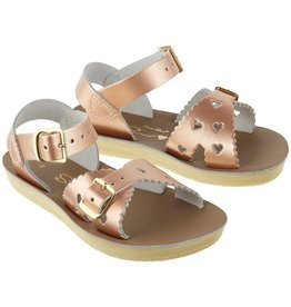 Sun-San Salt Water Sandals Sweetheart Sandal - Rose Gold, White, Pink, or Fuchsia