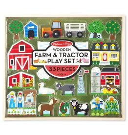 Melissa & Doug Farm And Tractor Set