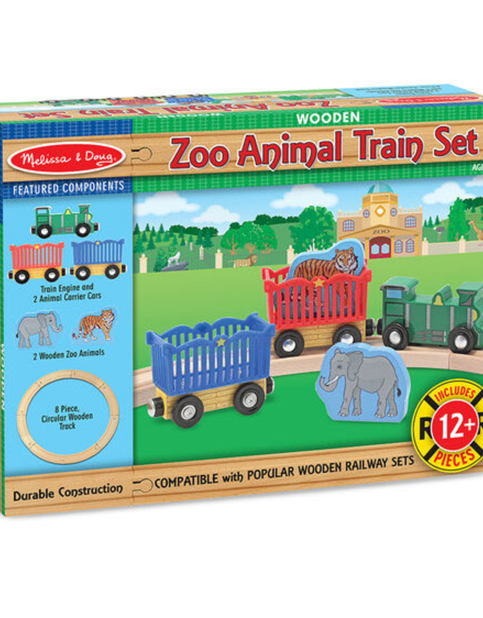 Melissa & Doug M&D Zoo Animal Train Set