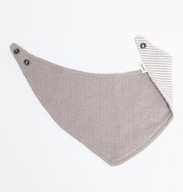 Greige Handkerchief Bib
