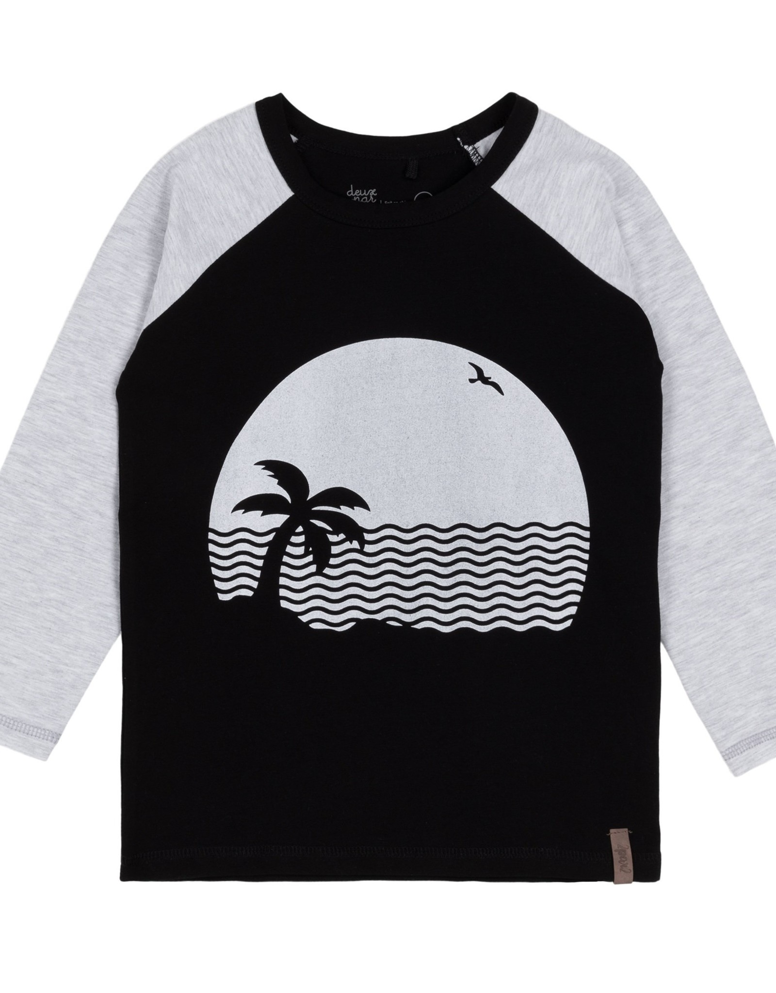 DeuxParDeux Vacation Beach Print Long Sleeve Top