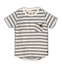 Koko Noko Grey/Wht Striped T-Shirt