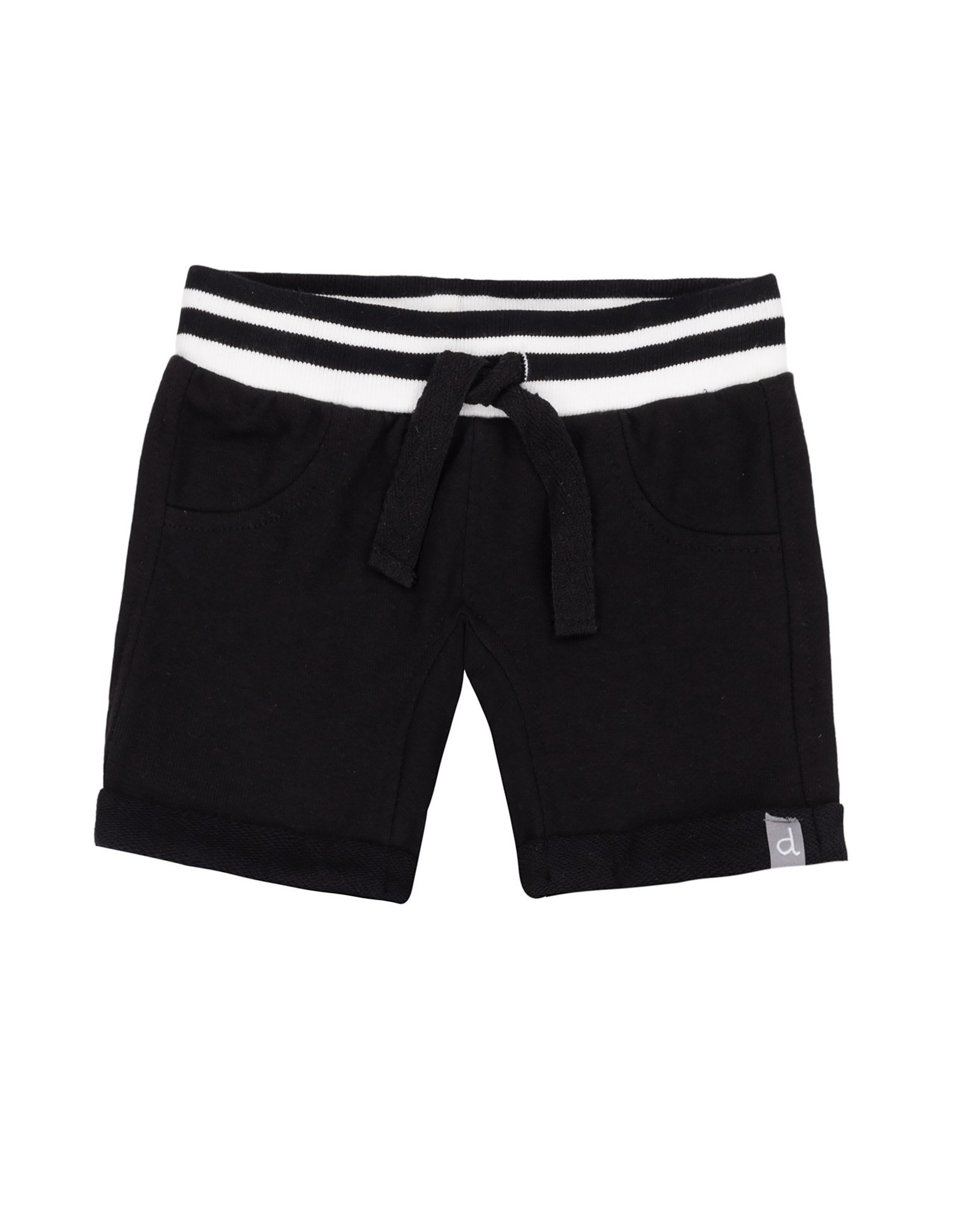 DeuxParDeux Black French Terry Bermuda Shorts