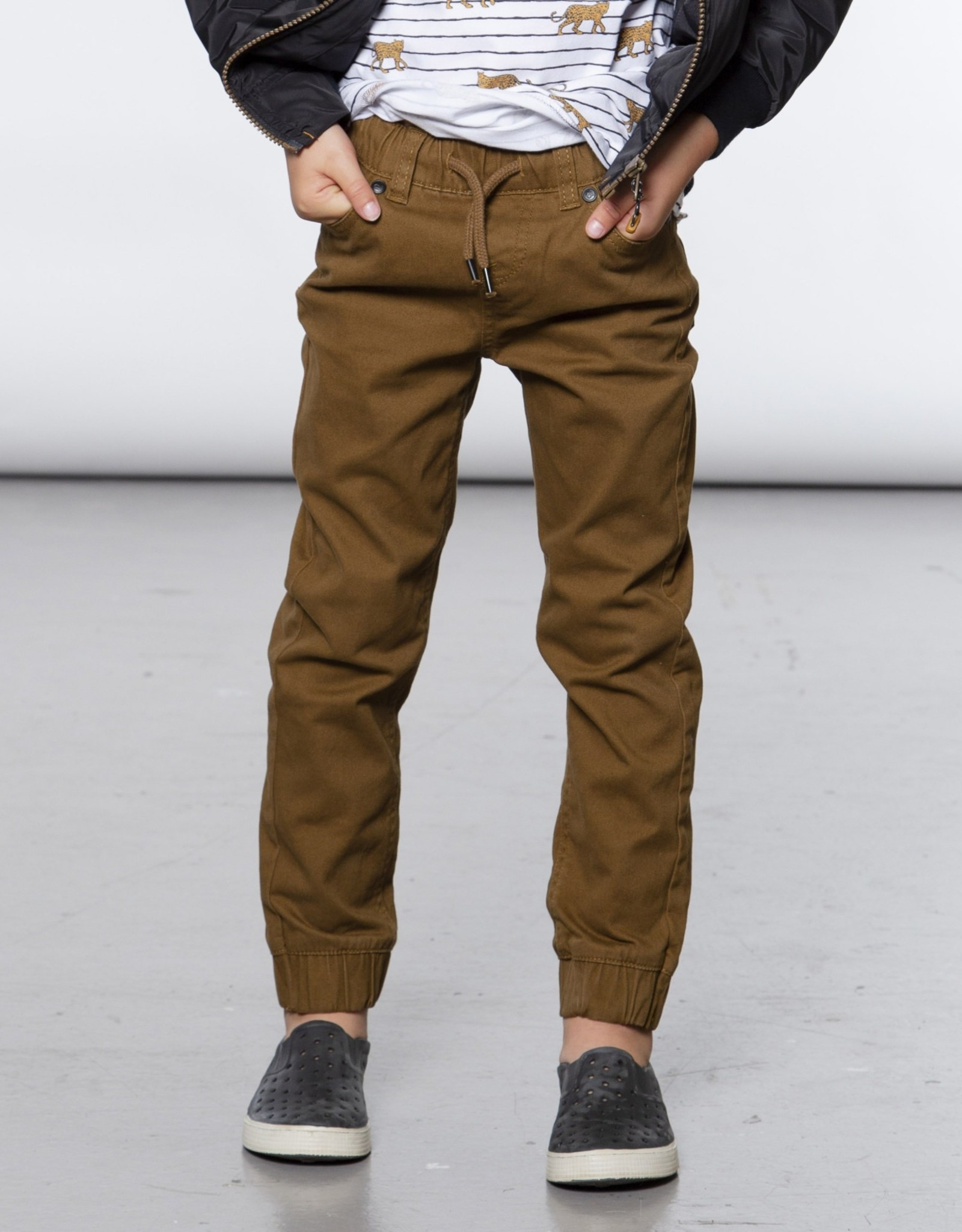DeuxParDeux Twill Jogger - Camo or Brown