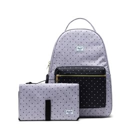 Herschel Supply Co. Nova Sprout Diaper Bag- cross hatch grey polka dot
