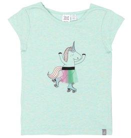 DeuxParDeux Roller Skating  Unicorn T-Shirt -Green