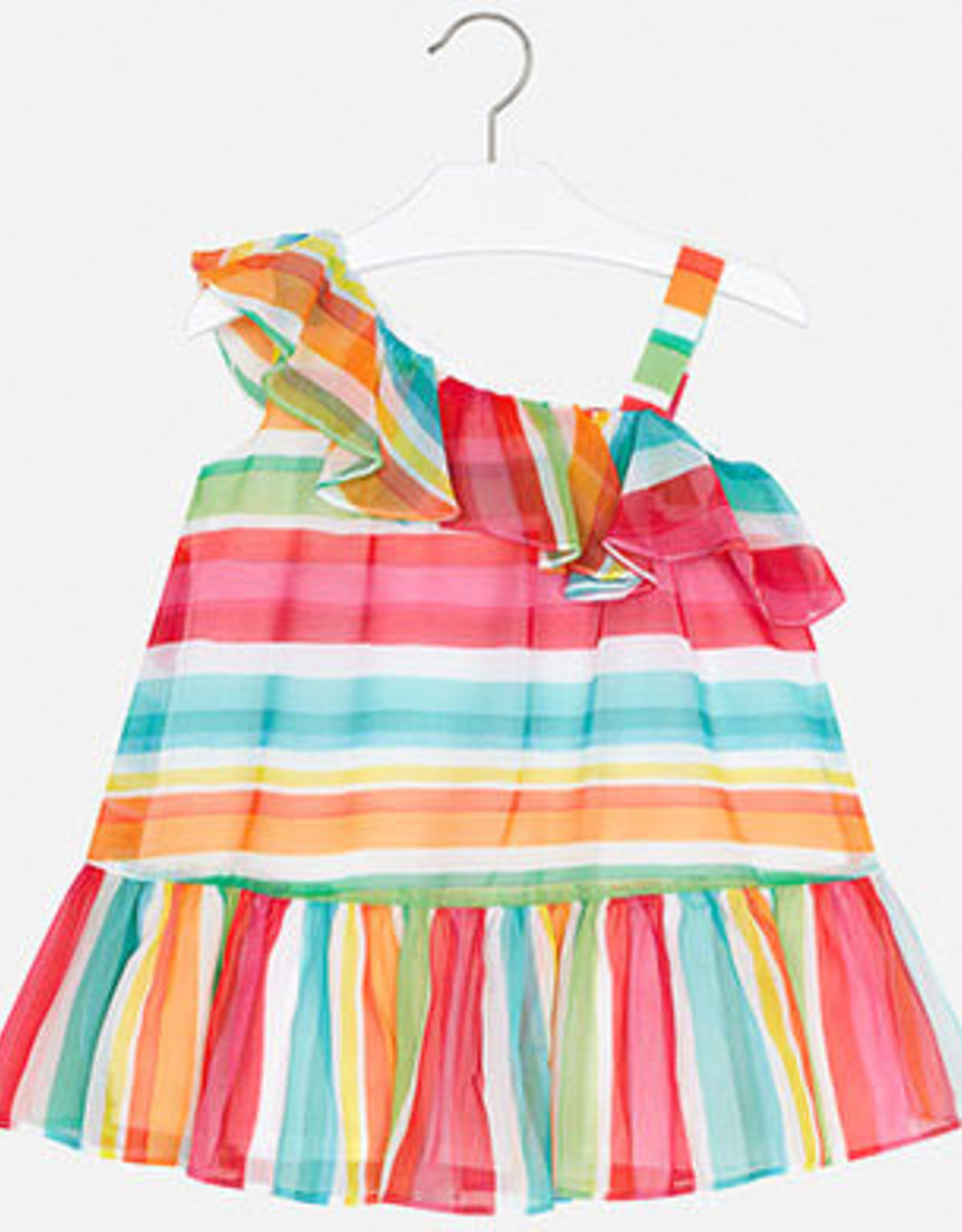 Mayoral Colourful Striped Dress