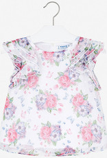 Mayoral floral chiffon blouse