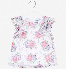 Mayoral floral chiffon blouse