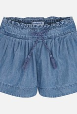 Mayoral Pleated Denim Shorts