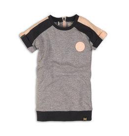 Koko Noko Sweater Dress Grey/Peach