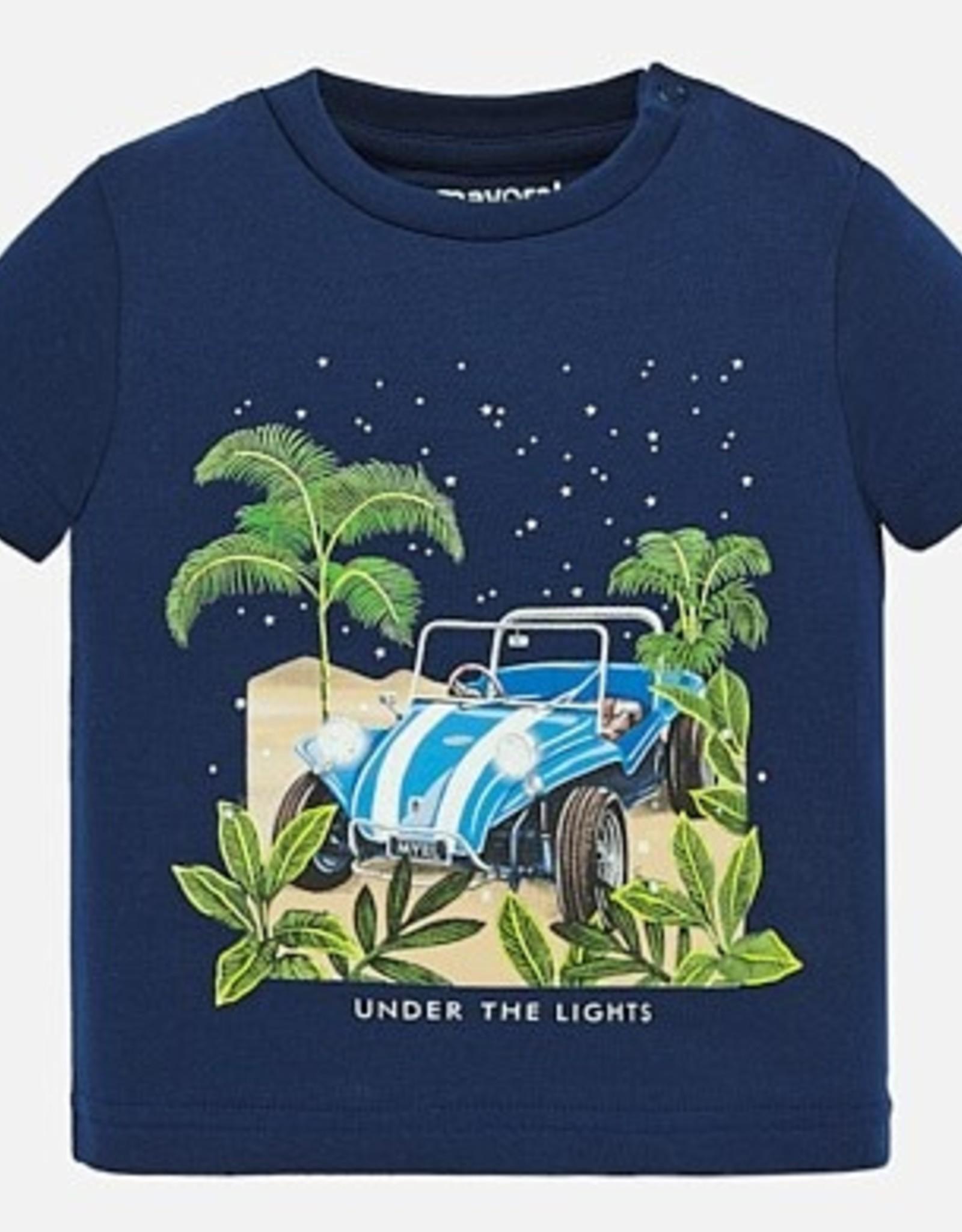 Mayoral  glow in dark t-shirt - Navy