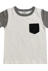Bit'z Kids Baby T-Shirt w/Pocket - white or blue