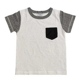 Bit'z Kids Baby T-Shirt w/Pocket - white or blue