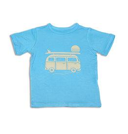 Silkberry Bamboo Surf Van T-Shirt - Blue