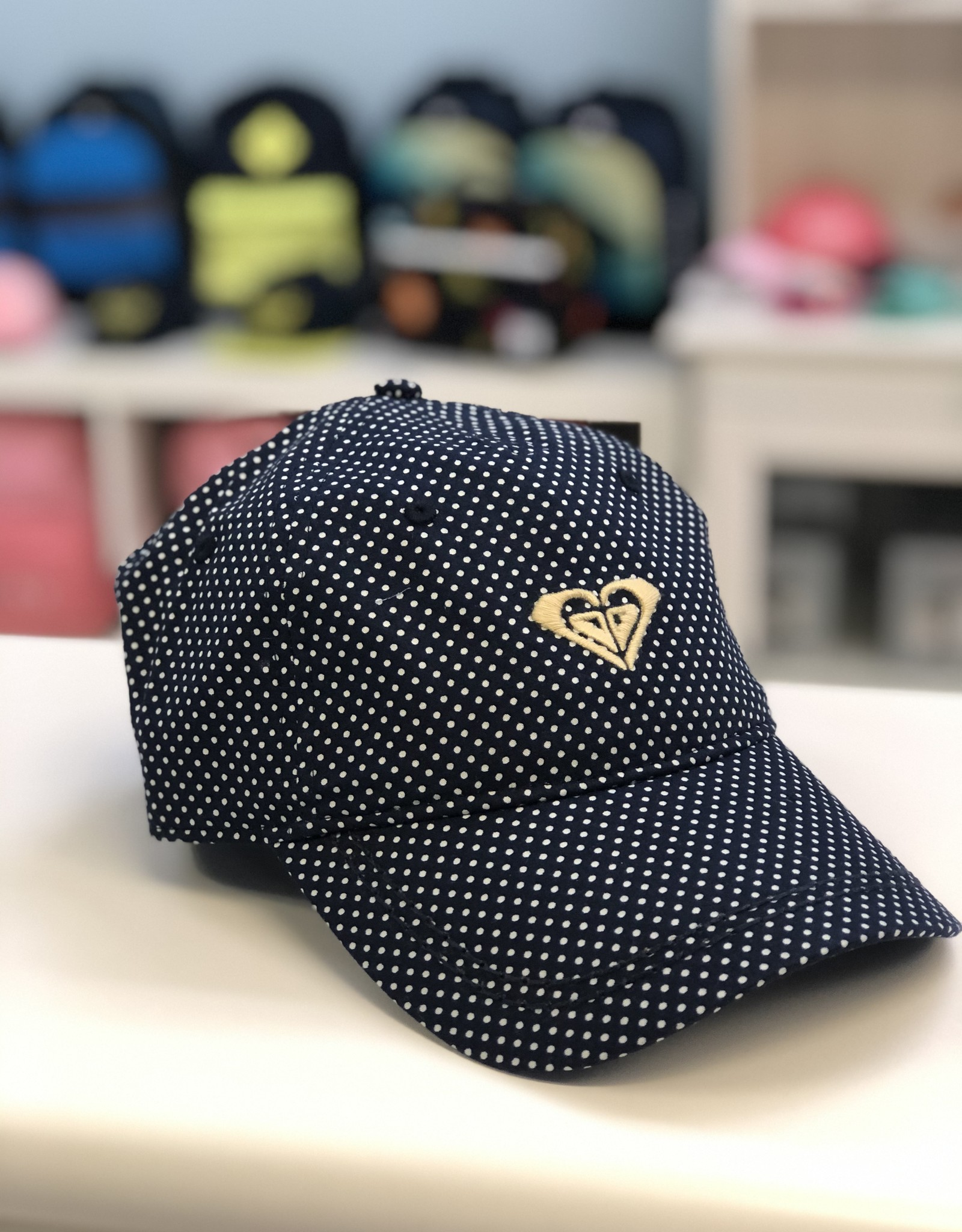 Roxy Navy Dot Hat - 6yrs +