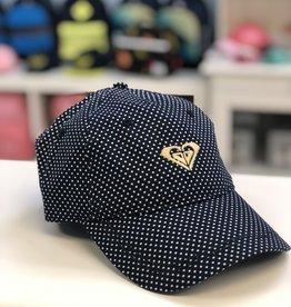 Roxy Navy Dot Hat - 6yrs +