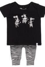 DeuxParDeux Zebra Top & Pant Set