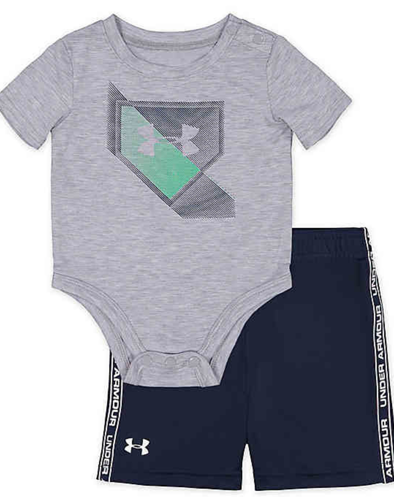 Under Armour 2Pc T-Shirt & Shorts Set Grey