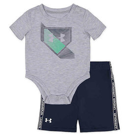 Under Armour 2Pc T-Shirt & Shorts Set Grey