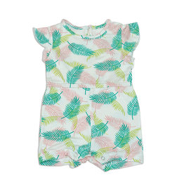 Silkberry Bamboo Tropical Palm Romper