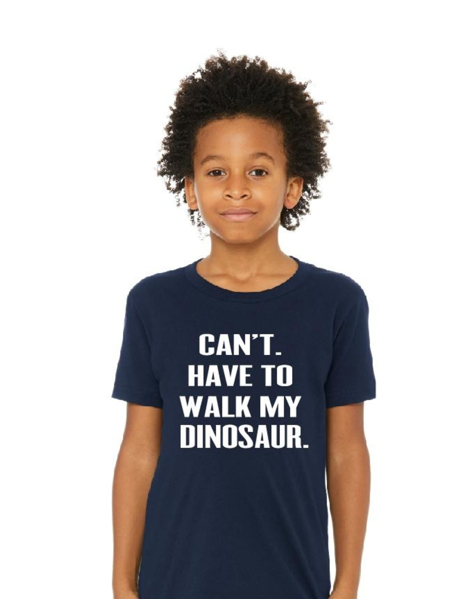 Portage & Main Can't Have to Walk My Dinosaur Tee -Navy