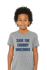 Portage & Main Save  The Chubby Unicorn Tee - Grey