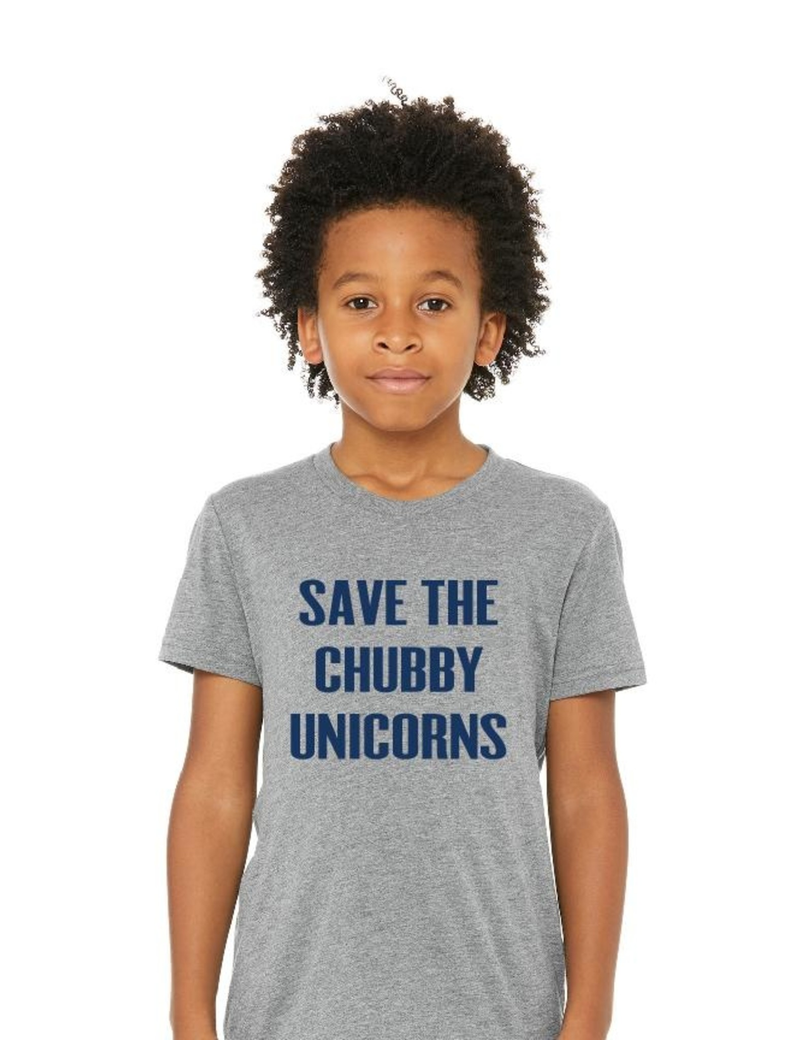 Portage & Main Save  The Chubby Unicorn Tee - Grey