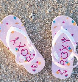 Roxy Pebbles Flip Flops - Pink or Black
