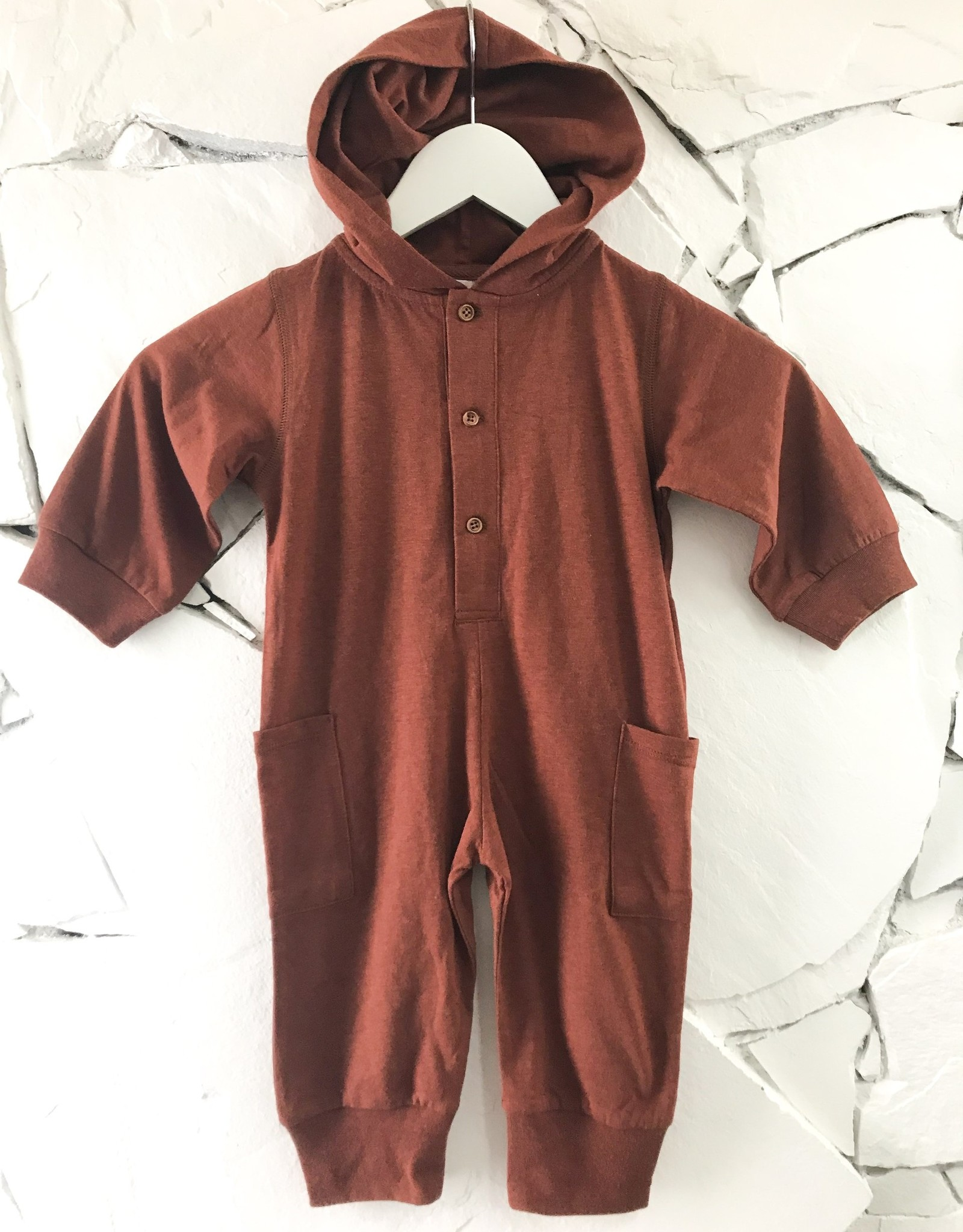 Little Rowe Billy Romper - Grey, Peach, or Cinnamon