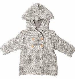 Beba Bean Crochet Hoodie Grey