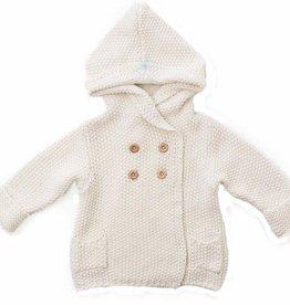 Beba Bean Crochet Hoodie Cream