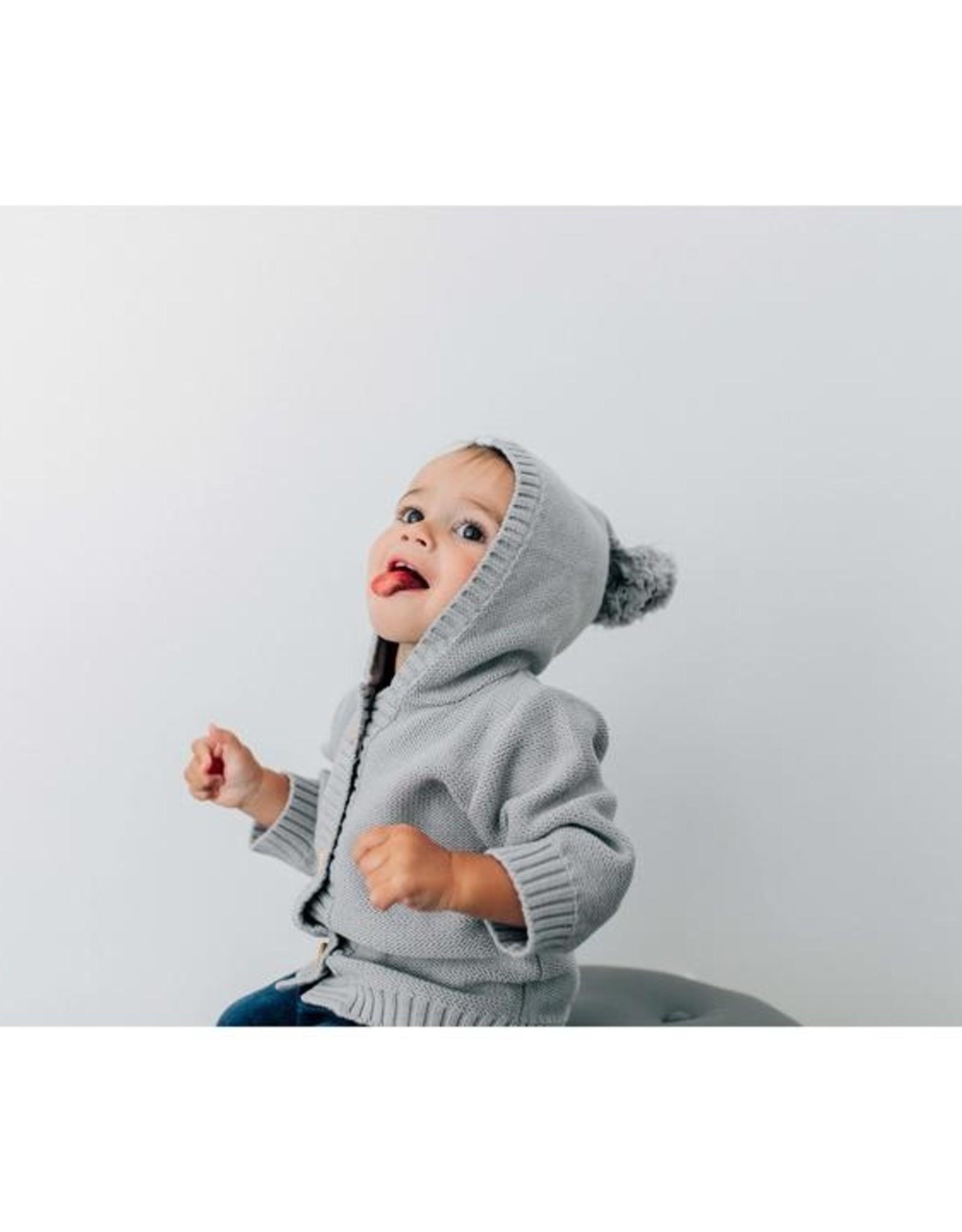 Beba Bean Pom Pom Hoodie Grey