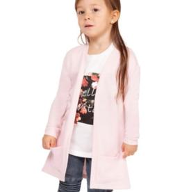 DEX Little Girl's Patch-Pocket Open Cardigan