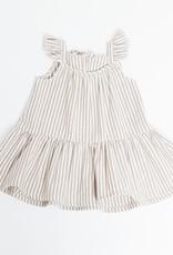Greige Striped Taupe Sun Dress