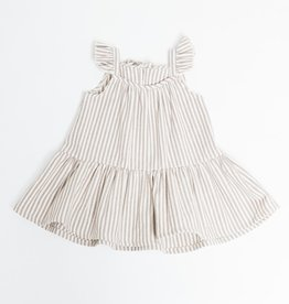 Greige Striped Taupe Sun Dress