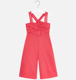 Mayoral Coral Romper with Bow
