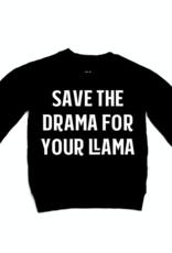 Portage & Main Save The Drama Raglan Sweatshirt - Black
