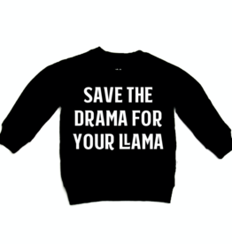 Portage & Main Save The Drama Raglan Sweatshirt - Black